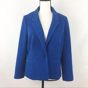 Kensie Heather Stretch Crepe Blue Blazer